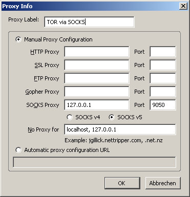 Switchproxy Screenshot